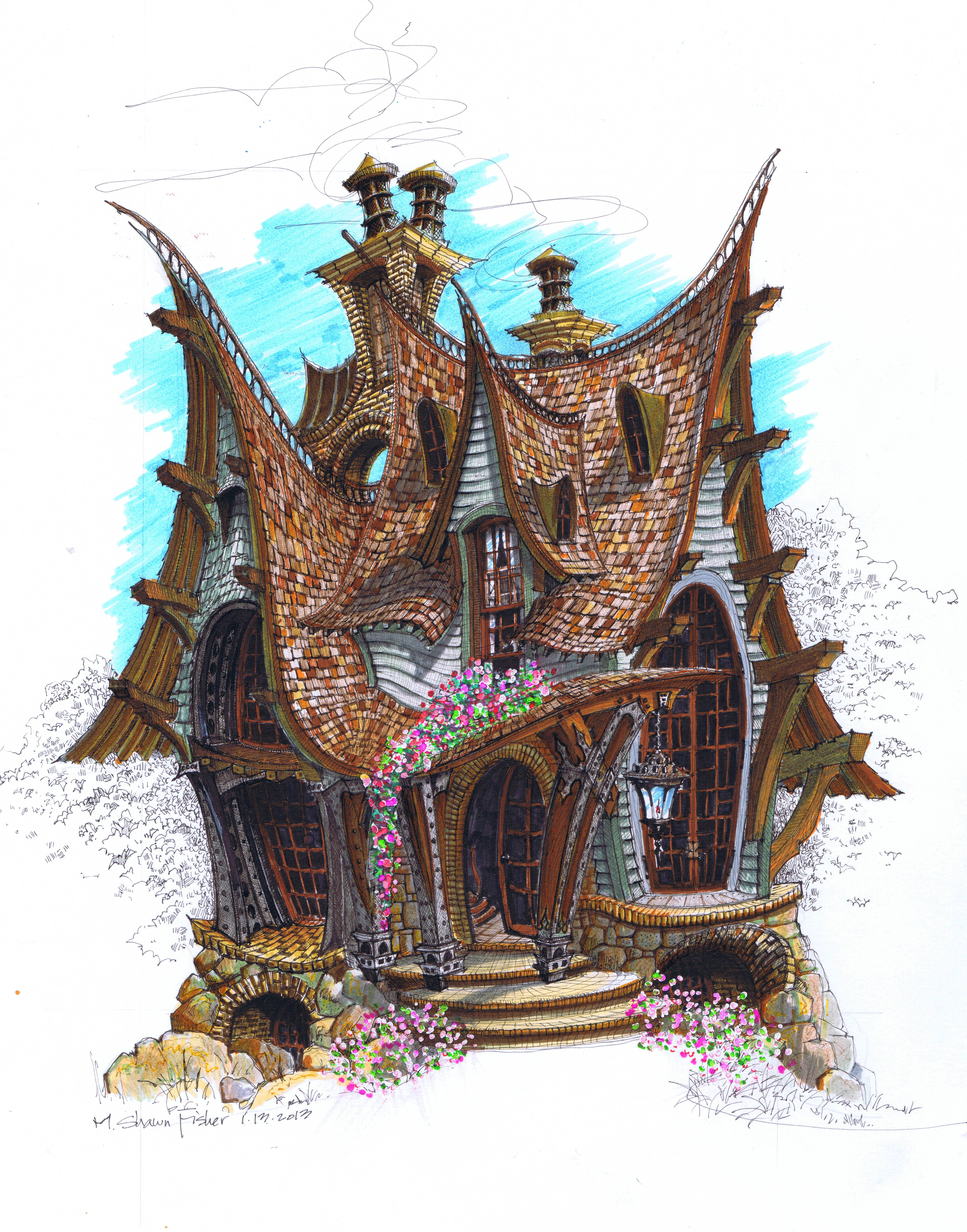5473x6975 Find Your Own Way In Cottage By Shawn Fisher Witch Cottage