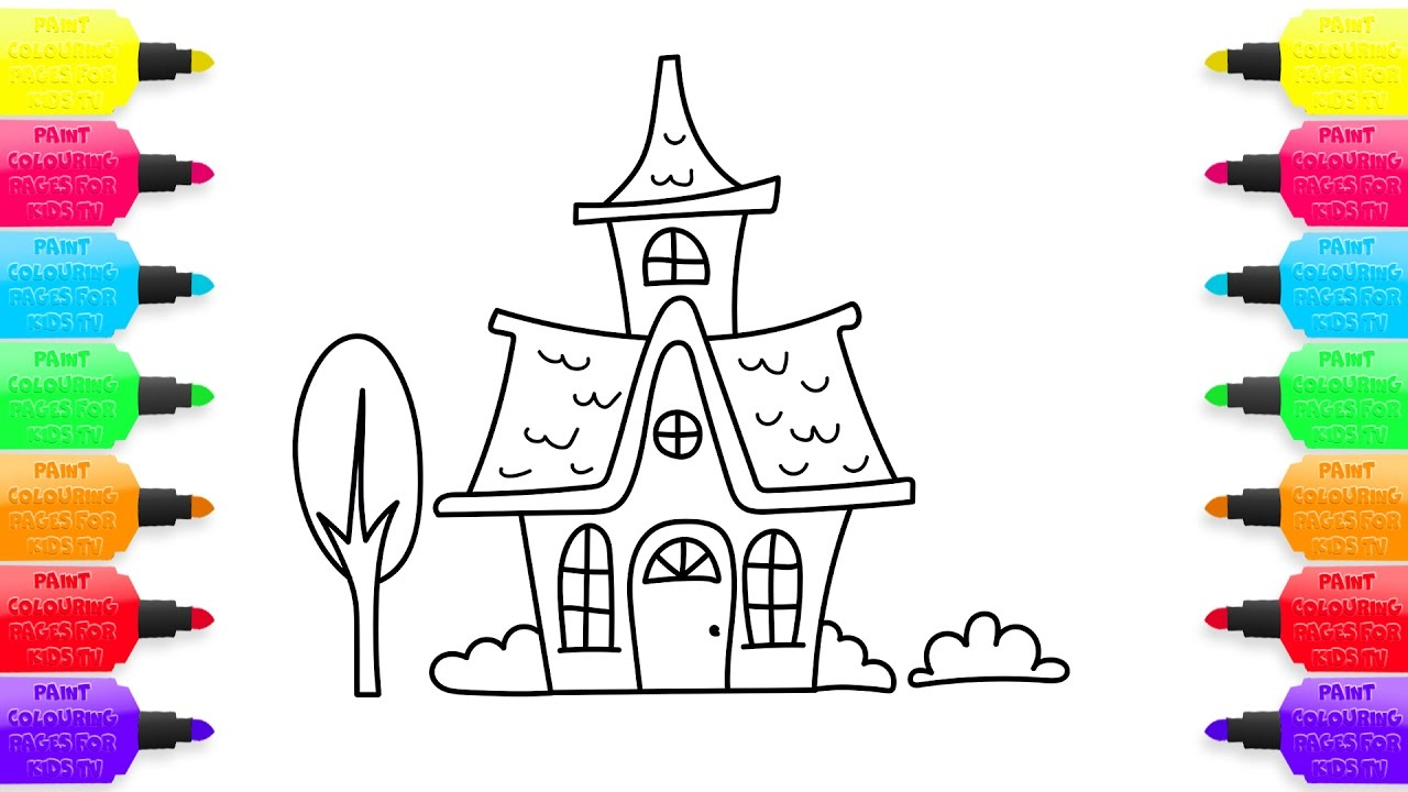 1280x720 How To Draw Fairy House Coloring Pages Animated Drawing