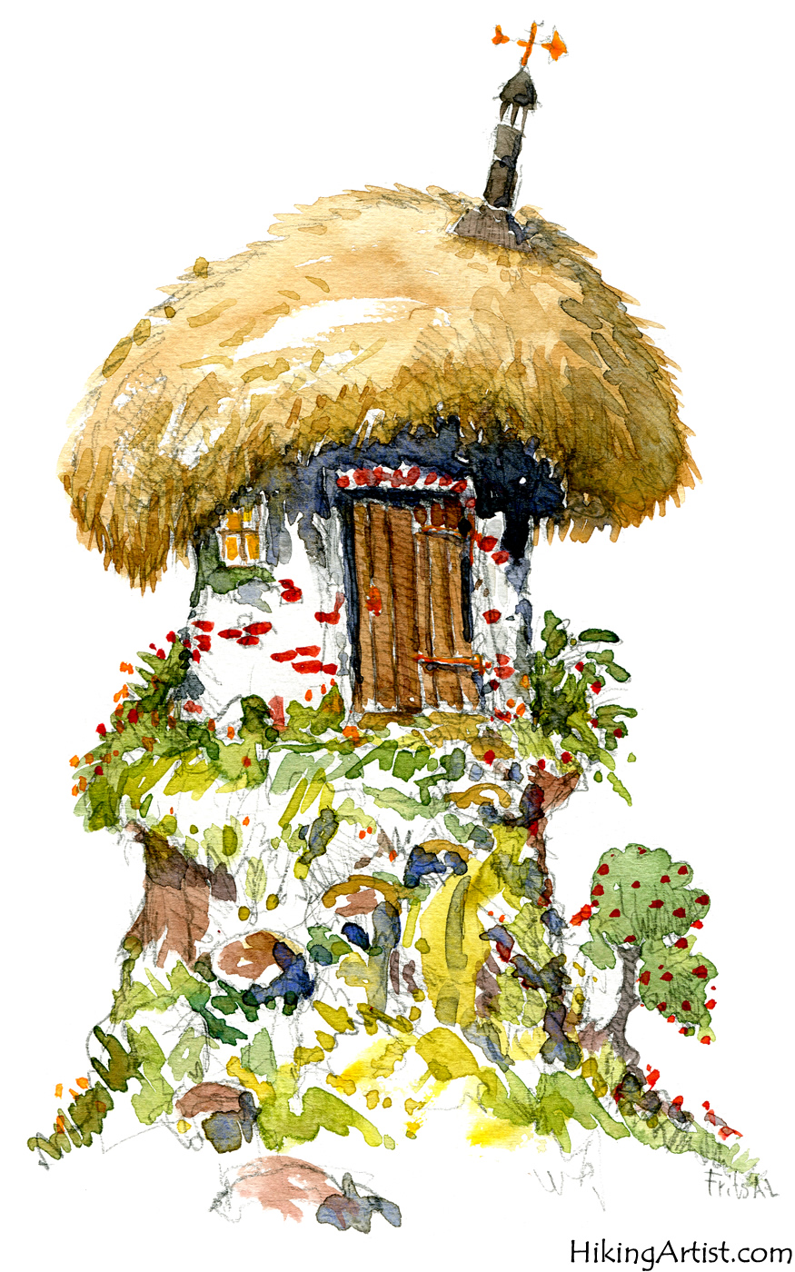 875x1400 Watercolor Sketch Of Fairy Tale House The Hiking Artist Project