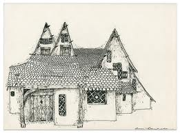 261x193 Fairy House Drawing