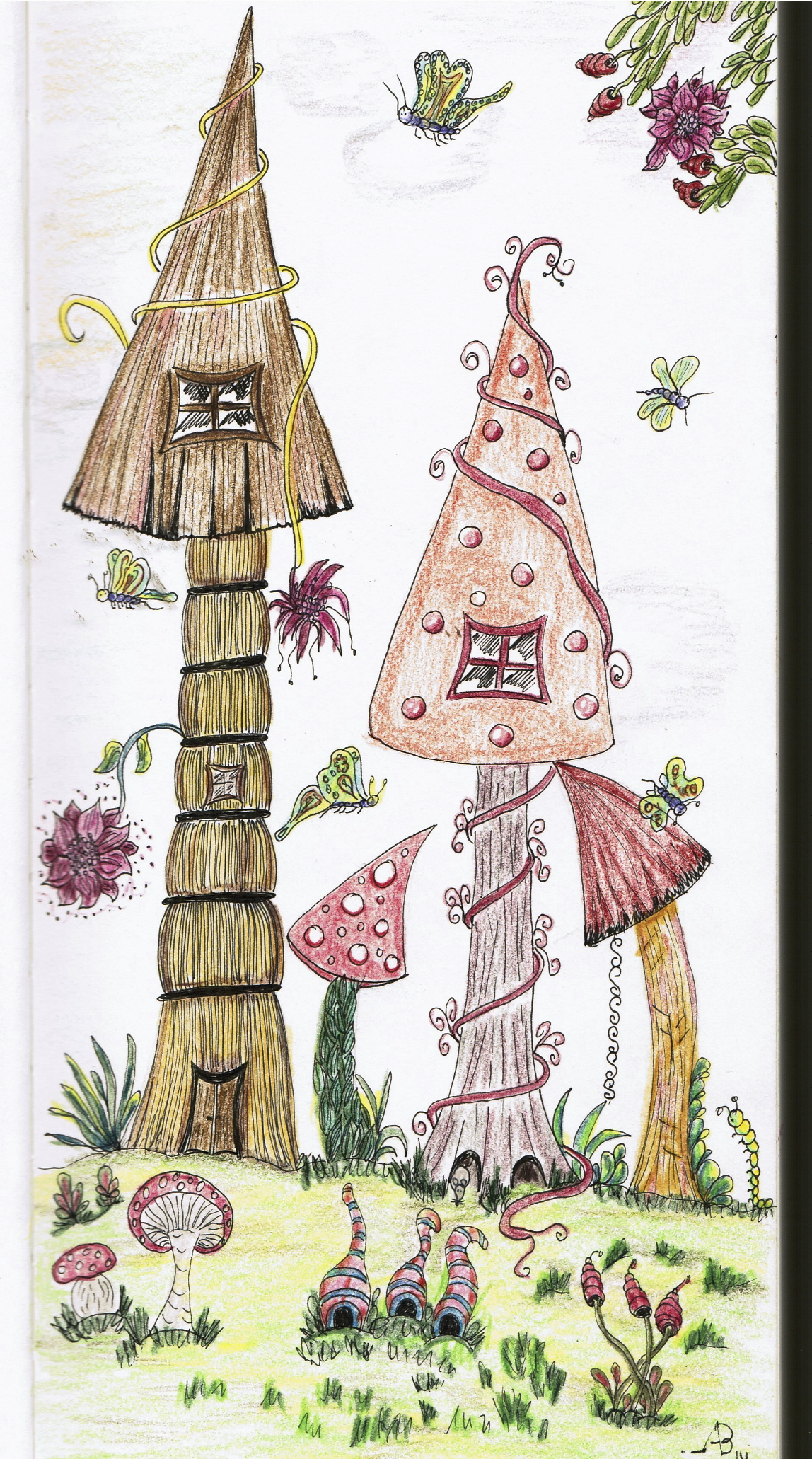 1148x2062 Fairy Houses Drawing Fairy Houses