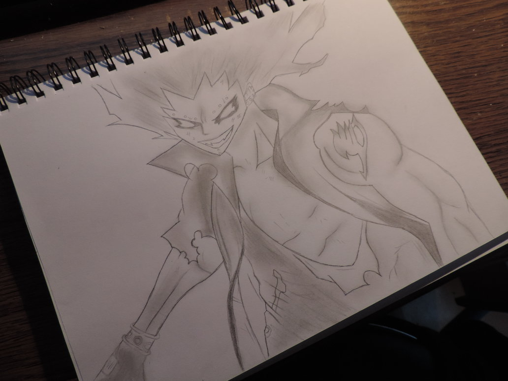 1032x774 Fairy Tail Gajeel Pencil Drawing By Tak17hiro