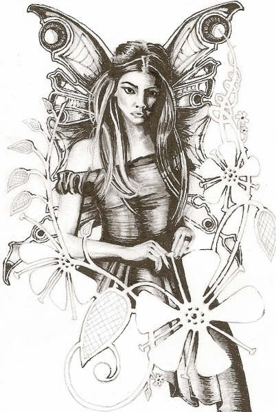 402x600 Photos Best Pencil Sketches Of Fairies,