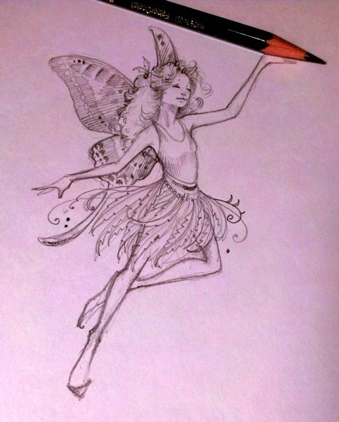 476x593 Easy To Draw Fairy Pictures