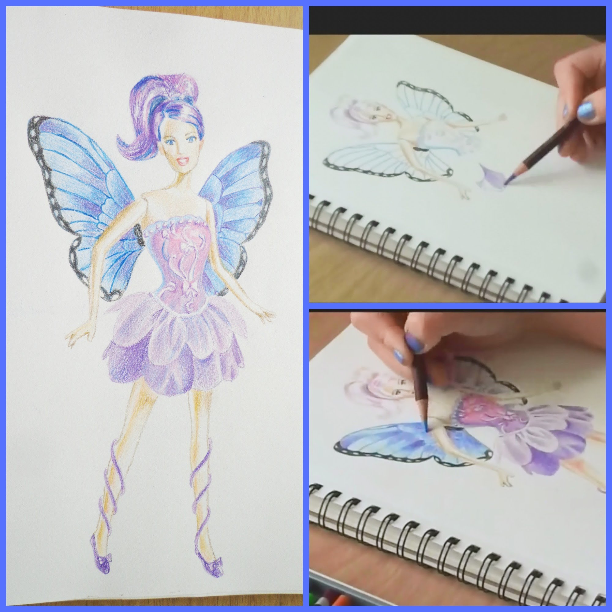 2000x2000 Speed Drawing Of A Fairy Princess Barbie Doll