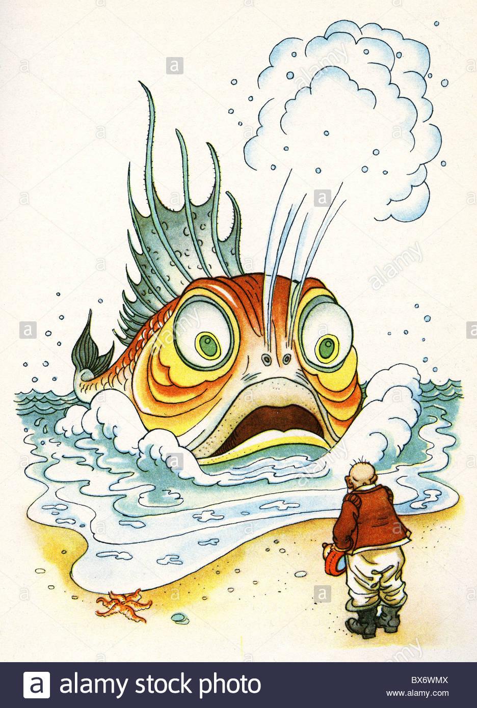 936x1390 Literature, Fairy Tale, Grimm's Fairy Tales, The Fisherman
