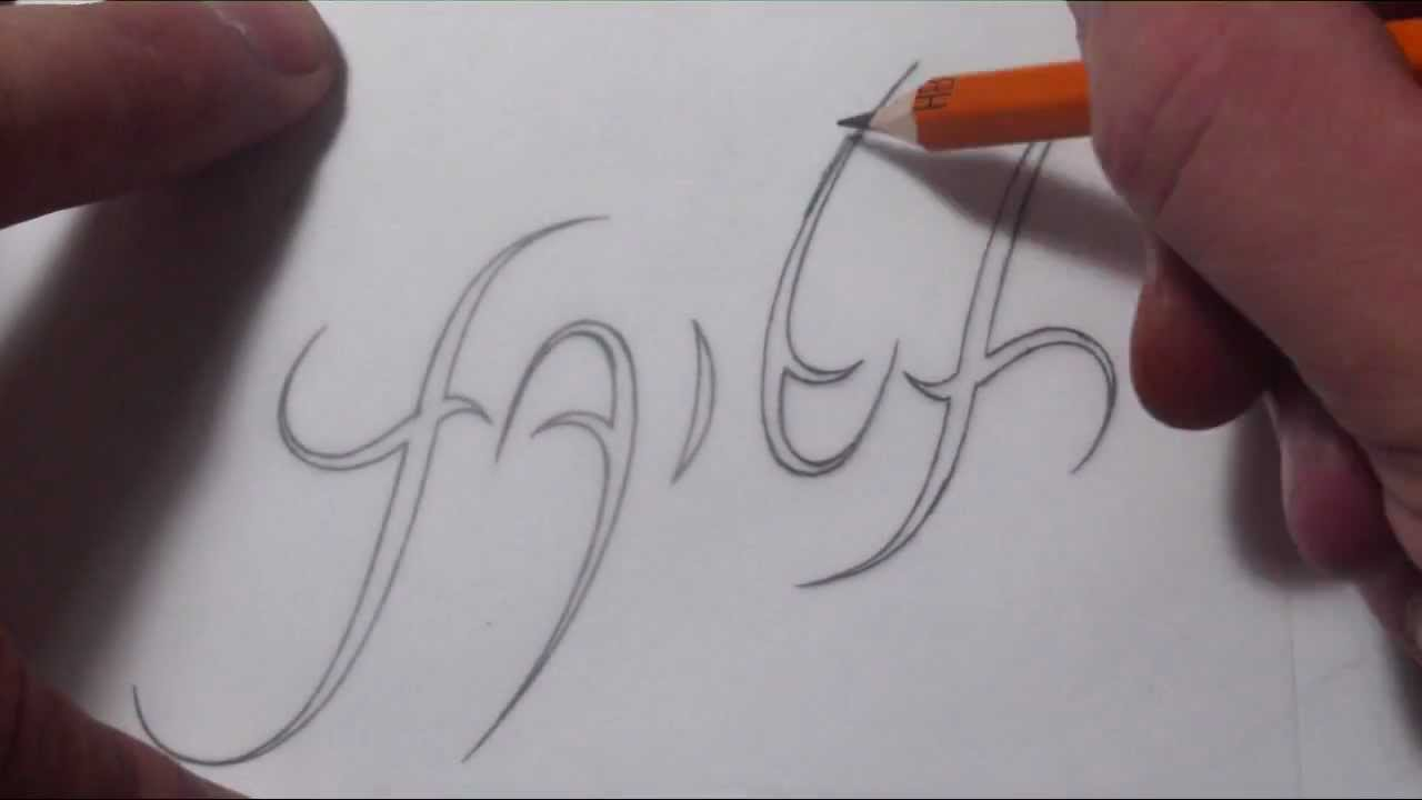 1280x720 Drawing An Ambigram Design For The Word Faith