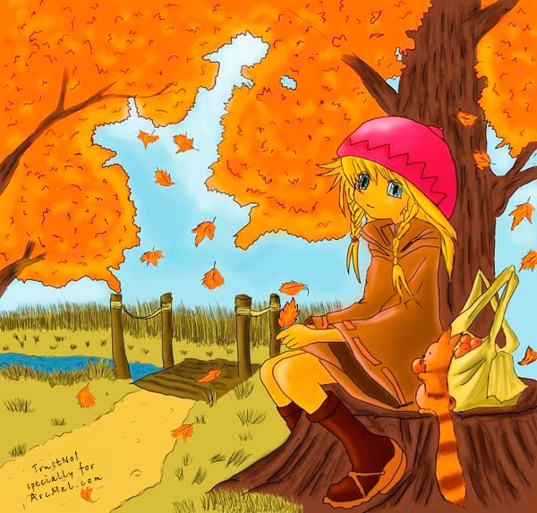 600x573 How To Draw Autumn Step By Step