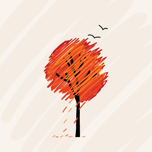 600x600 Fall Tree Vector Graphic Vector Free Vector Download In Ai