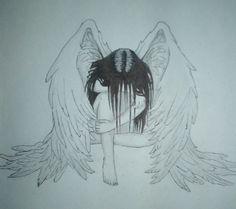 236x209 Fallen Angel Wings Drawing Fallen Angel Sketch By