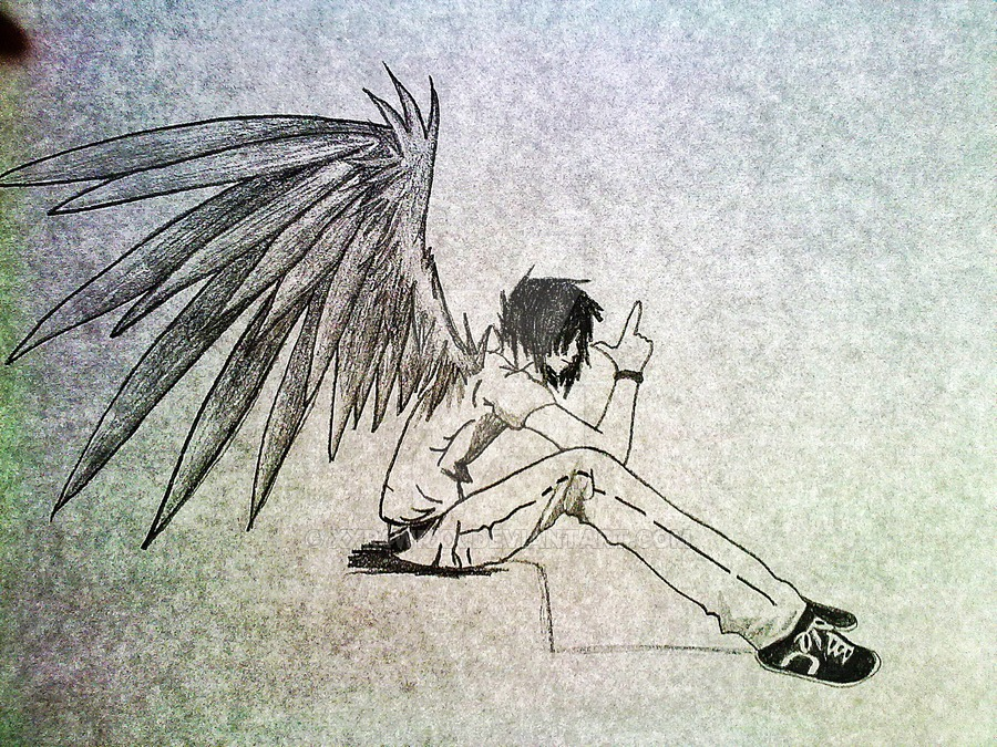 how to draw michael the fallen angel