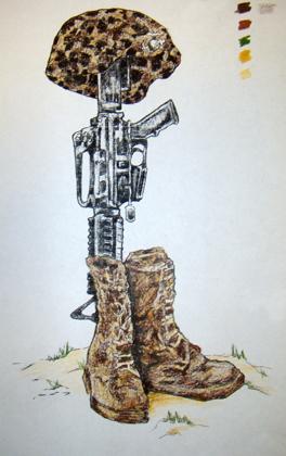 264x420 Fallen Soldier Battle Cross