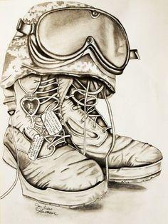 236x314 Fallen Soldier Cross Drawing