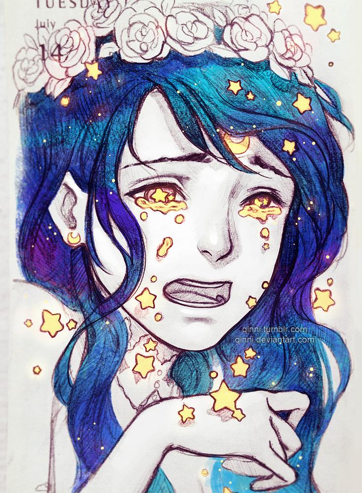 734x1000 Falling Stars By Qinni