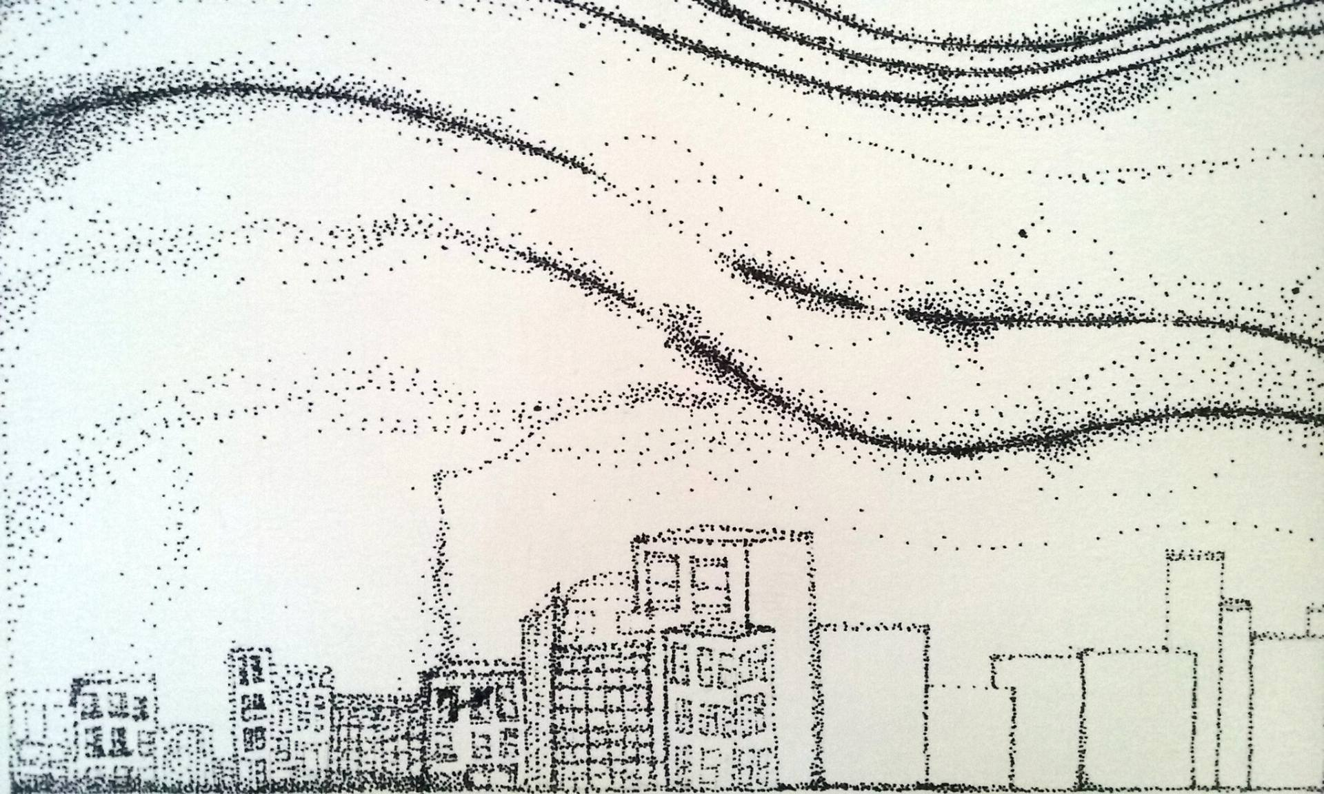 1920x1152 Saatchi Art Falling Stars Drawing By Becky Stoup
