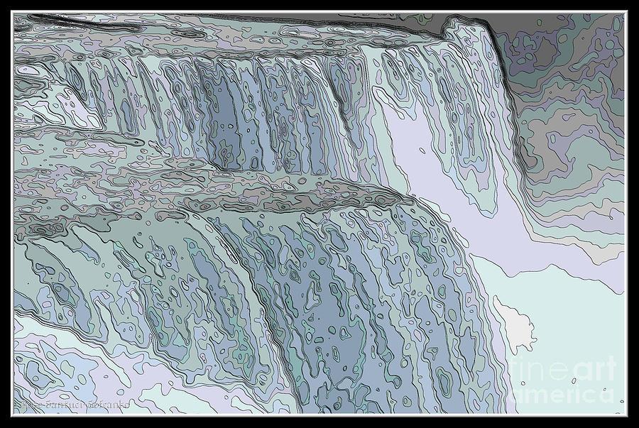 900x603 Niagara Falls Contour Drawing Effect Photograph By Rose Santuci