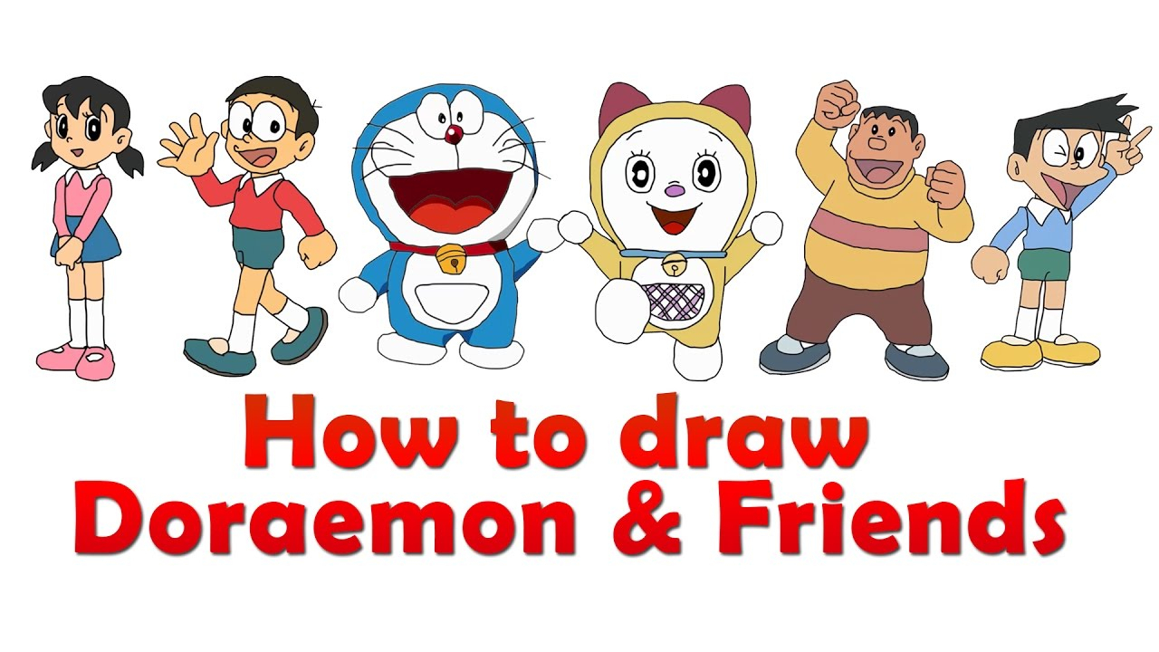 1280x720 Doraemon And Friends And Family Photos For Drawing Easy How
