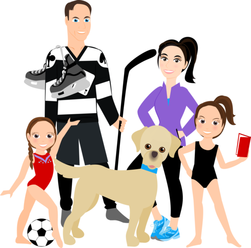 500x493 Cartoon Family Of 5 People 3 To 5 People Cartoon Family Family