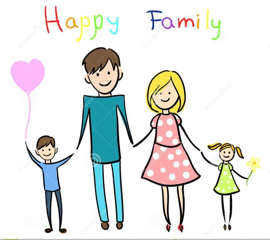 865x768 Happy Cartoon Family Clipart Share On Facebook