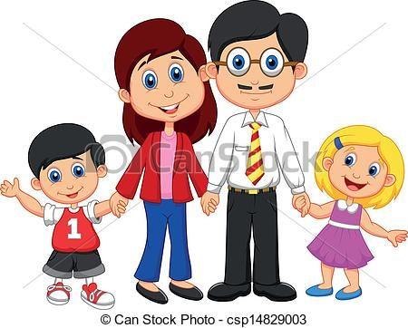 450x362 Happy Family Cartoon
