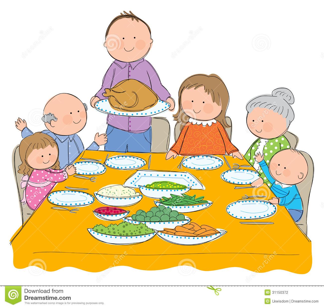 1300x1234 Thanksgiving Family Dinner Clipart
