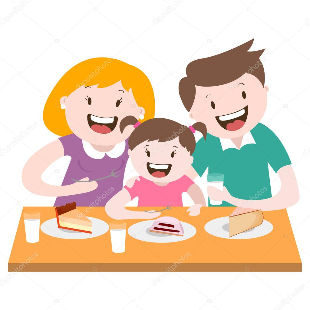 1024x1024 Happy Family , A Family Dinner , Vector Graphics Stock Vector