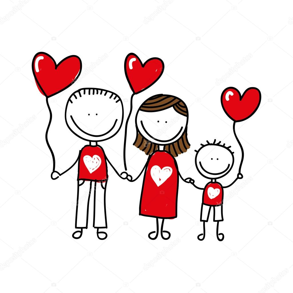 1024x1024 Happy Family Drawing Isolated Icon Design Stock Vector