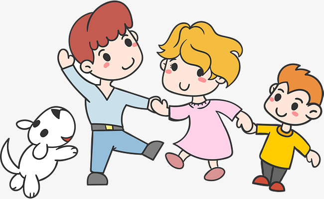 650x400 A Happy Family!, Cartoon Hand Drawing, Pet Dog, There Is Love Png