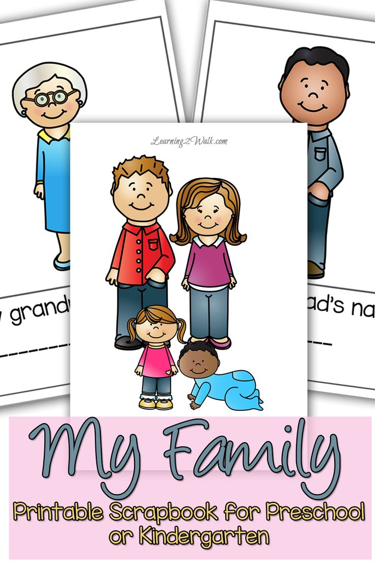 736x1104 My Family Preschool Maths Activity Family Preschool Themes