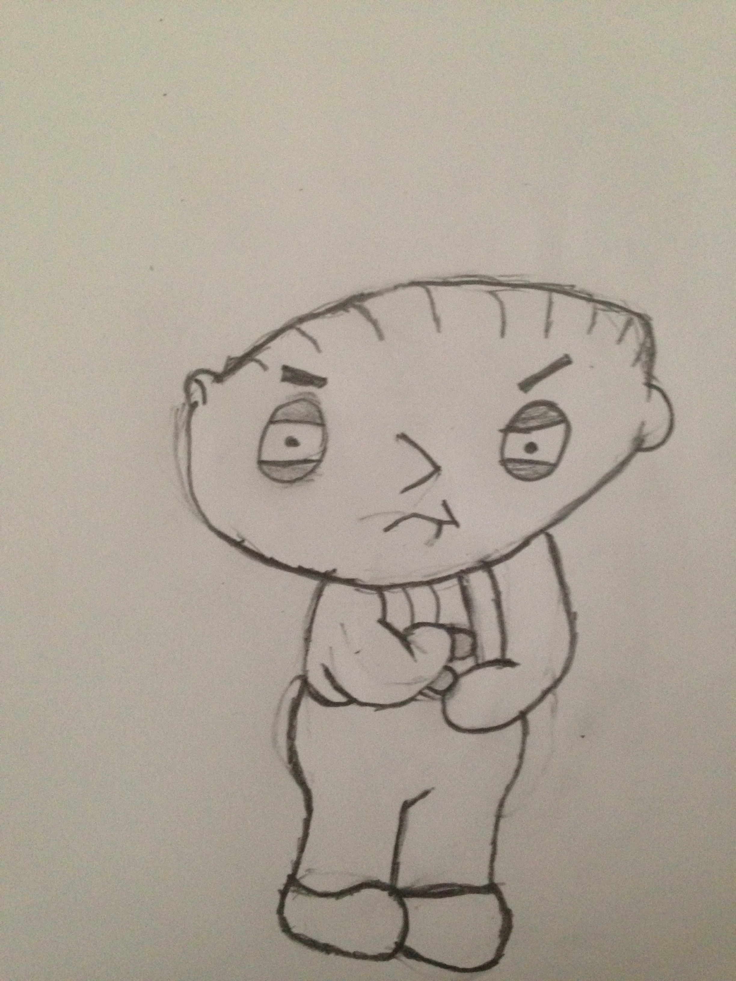 2448x3264 Stewie Close Up (Family Guy) Pencil Sketches