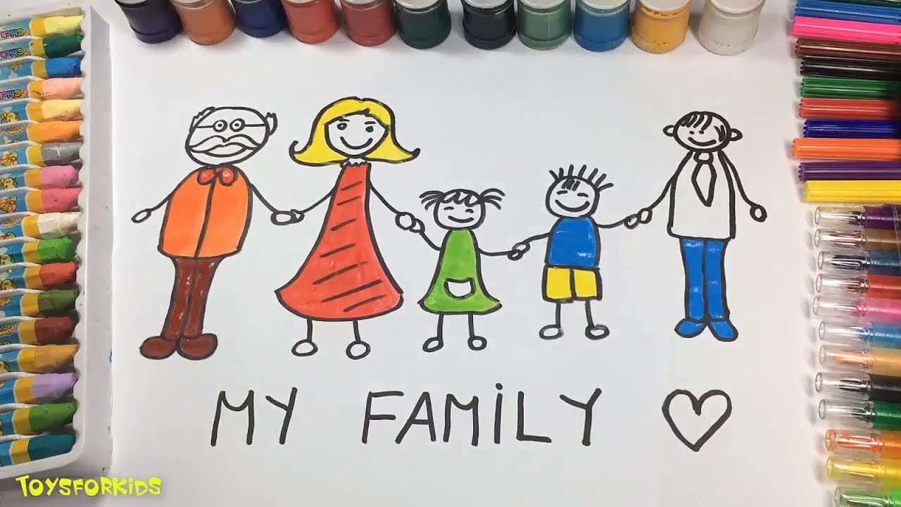 1280x720 How To Draw Family Members For Kids