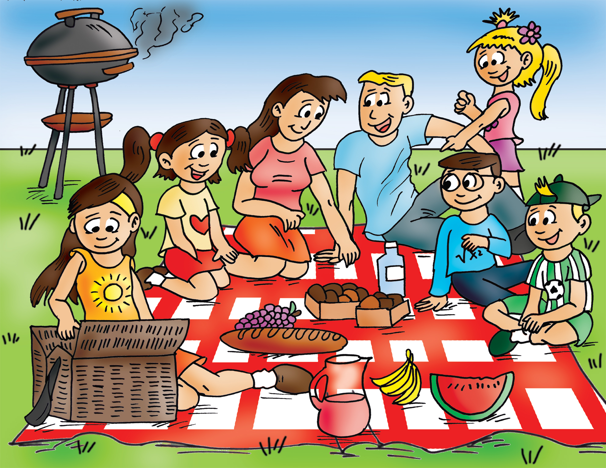 1984x1530 Drawing Of School Picnic How To Draw Scenery Of Family Picnic