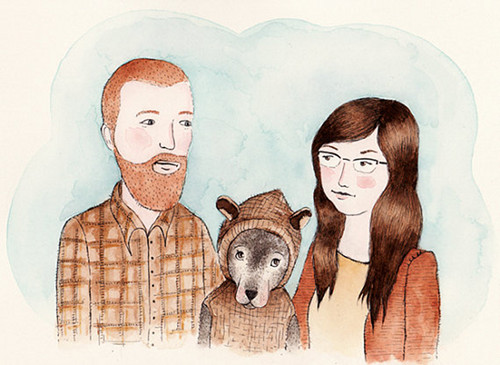 500x365 Custom Family Portraits On Etsy Designsponge