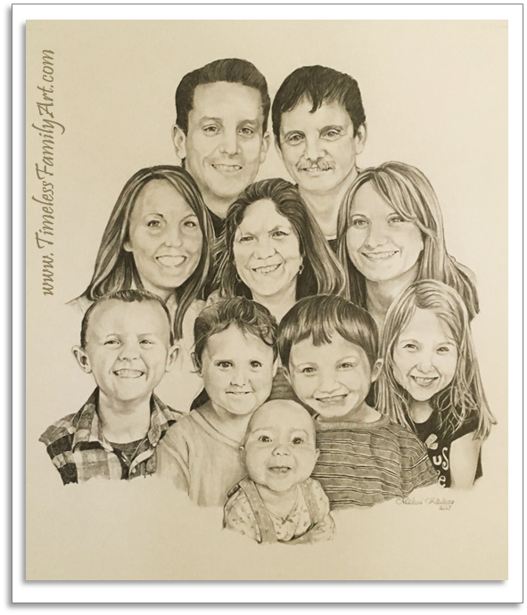 591x690 Hand Drawn Portraits From Photos Amp Family Portrait Drawings
