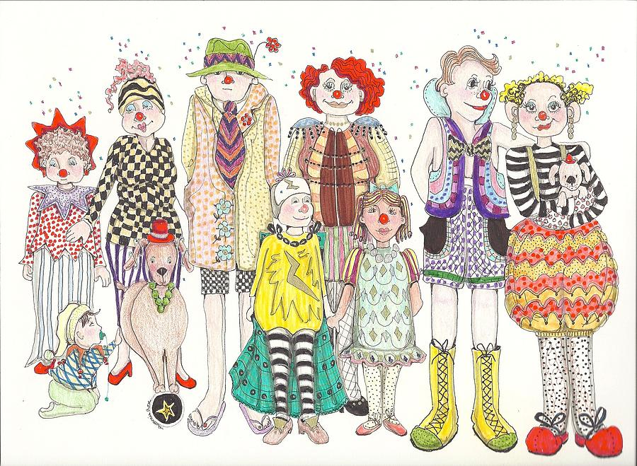 900x659 Family Reunion Drawing By Bonnita Dirito
