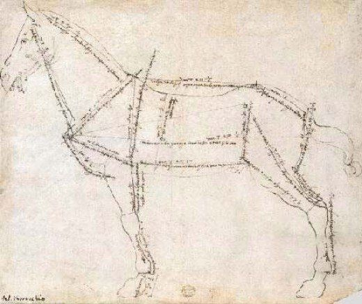520x438 The Best Drawings Of Animals By Famous Artists Horse Drawn