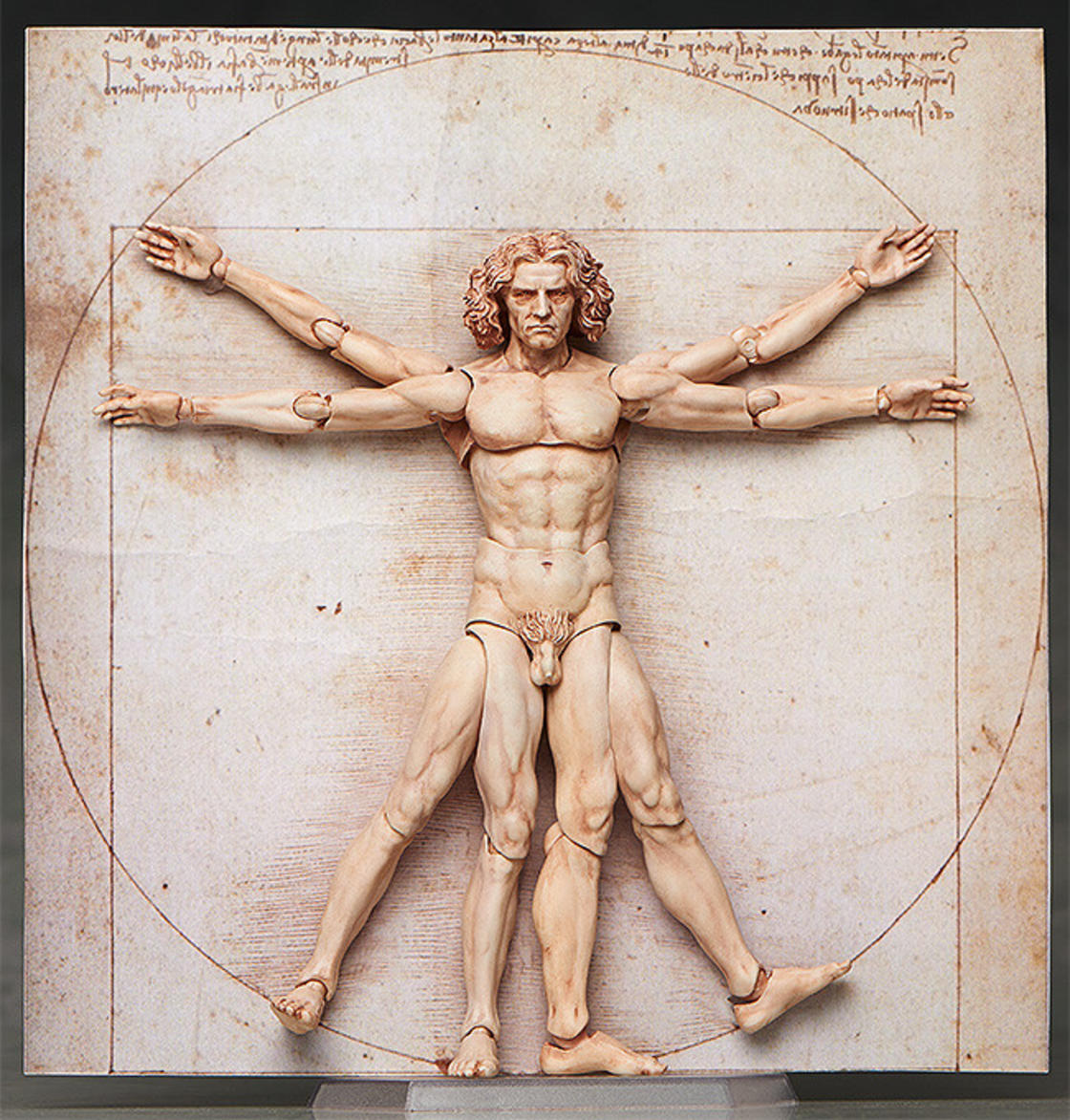 1120x1172 Vitruvian Man The Famous Drawing By Leonardo Da Vinci Is Now