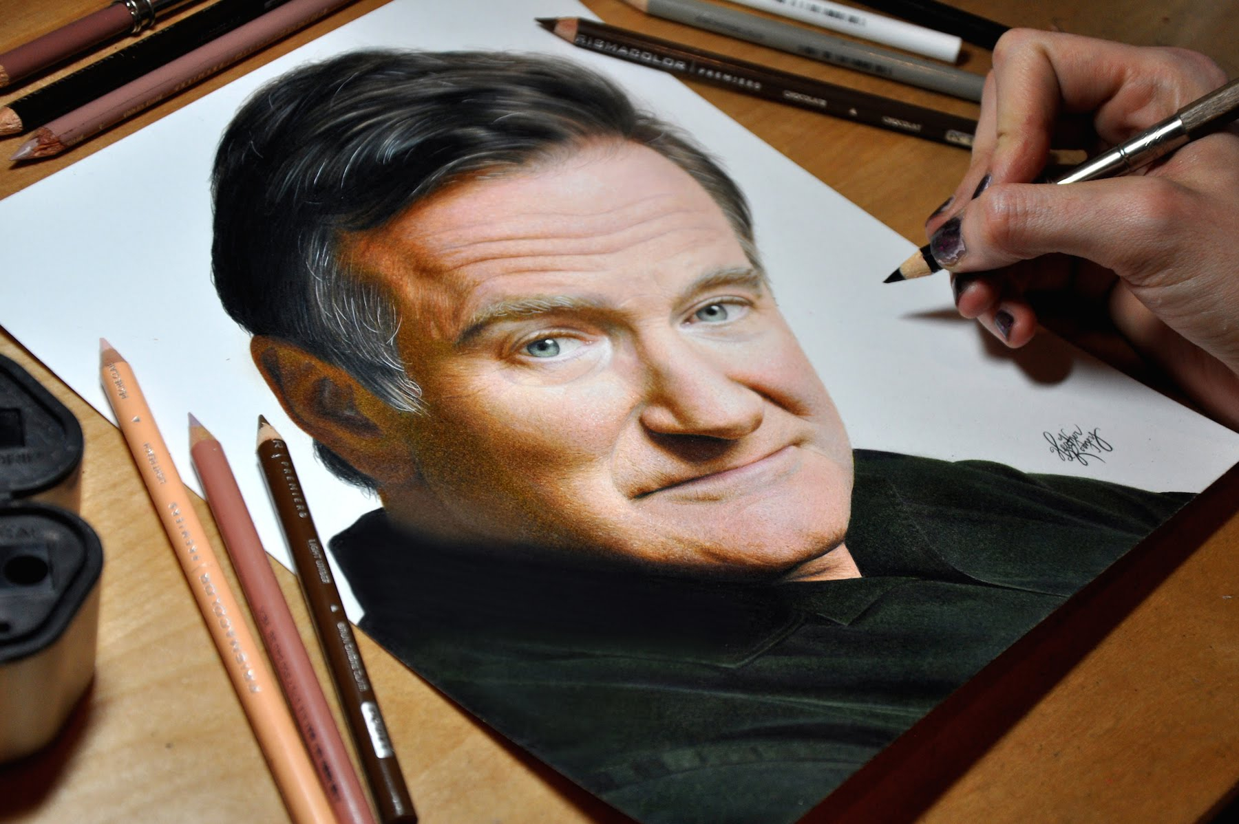 famous people drawings