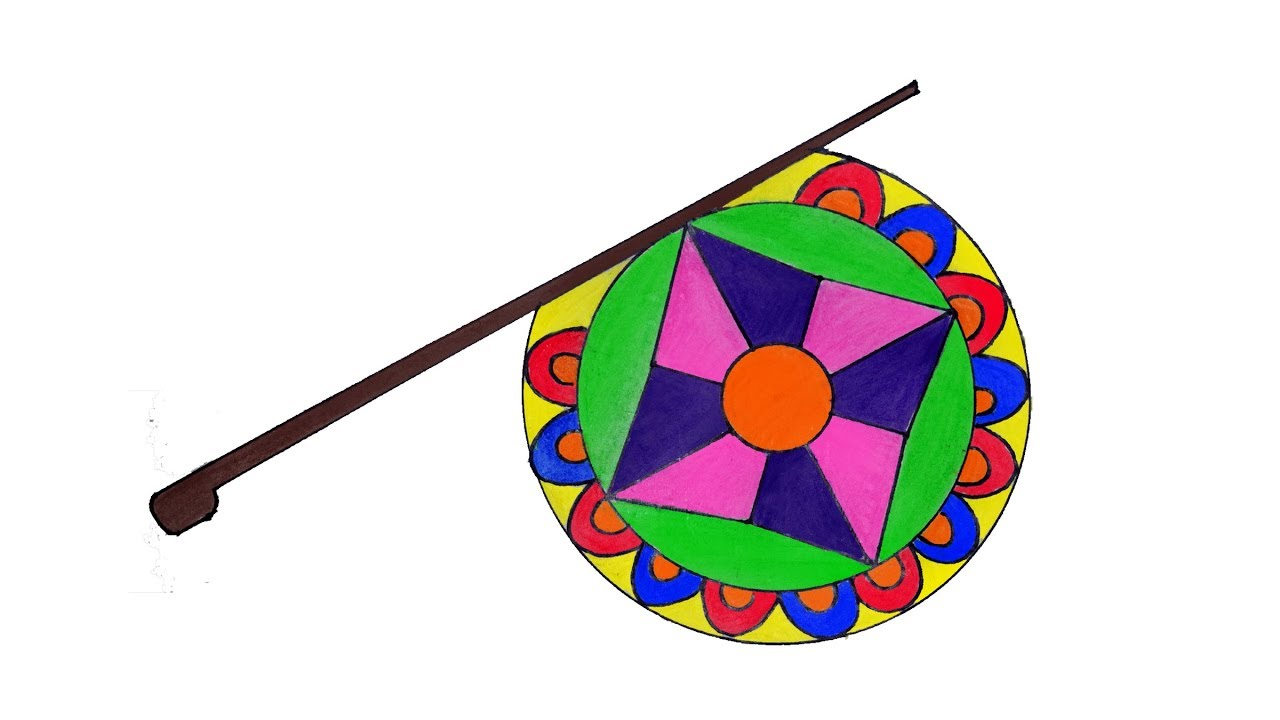 1280x720 How To Draw A Hand Fan Step By Step, Hand Fan Drawing Very Easy