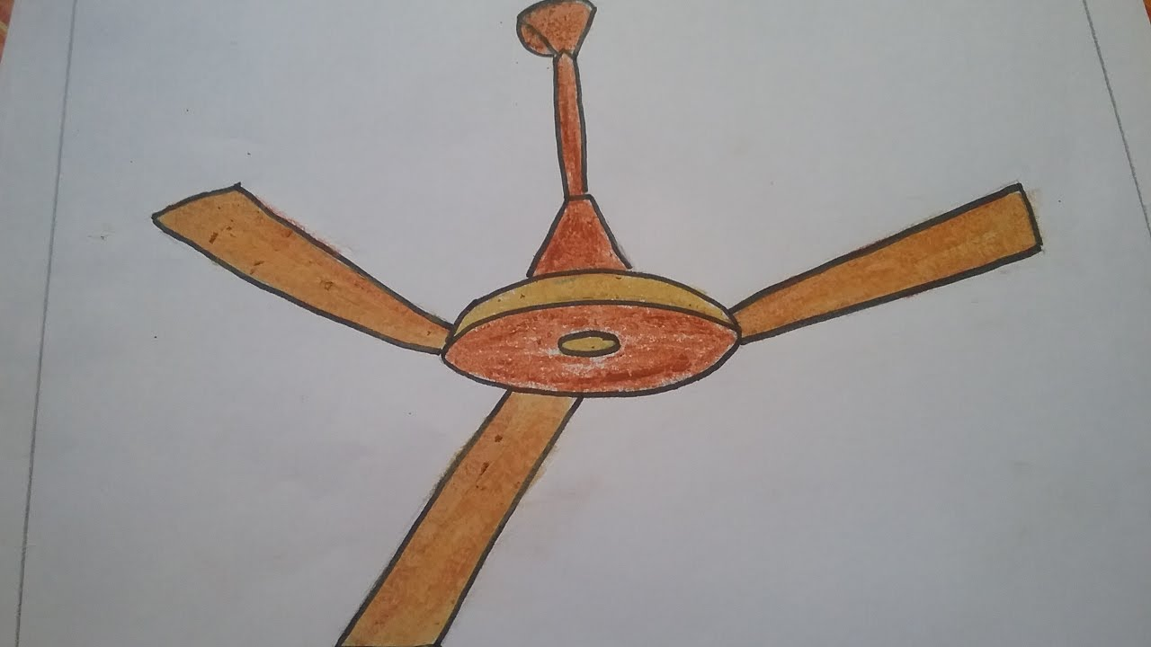 1280x720 How To Draw A Fan Easily With Basic Shapes L Ceiling Fan Drawing