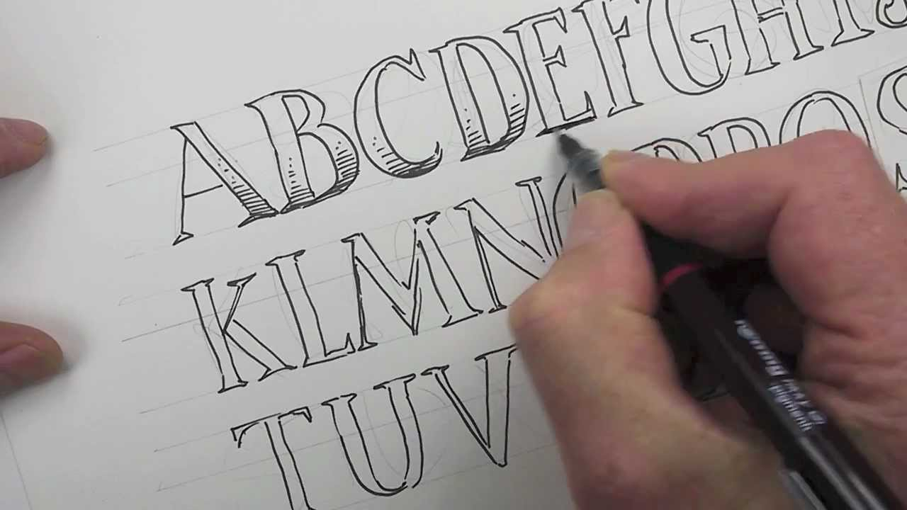 1280x720 How To Draw An Alphabet Of Capital Letters