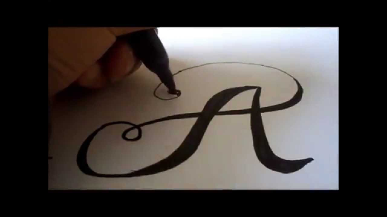 1280x720 How To Draw A Fancy Letter