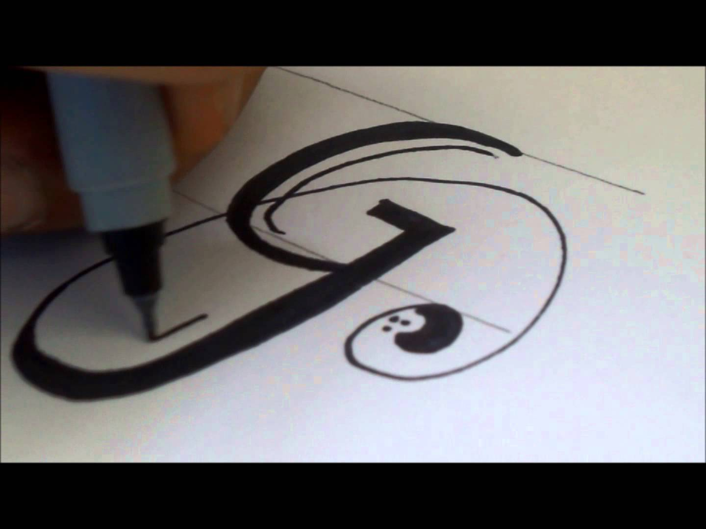 1440x1080 How To Draw A Swiverled Fancy Letter