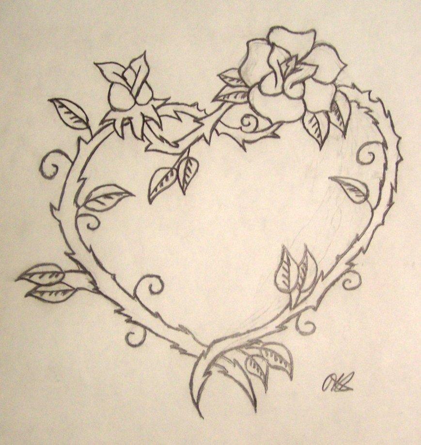 869x919 Fancy Flowery Heart By Kati Bella