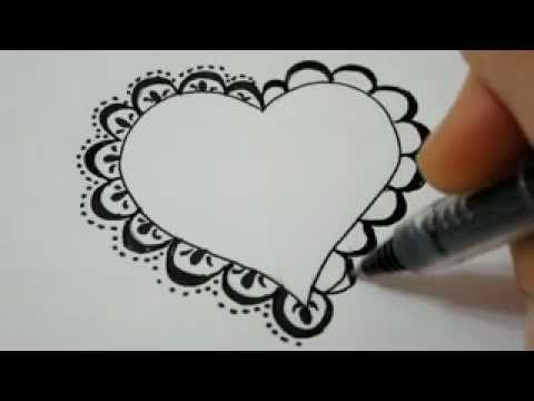480x360 How To Draw A Lace Heart