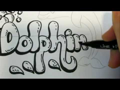 480x360 How To Draw Bubble Letters And A Dolphin