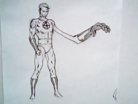 480x360 How To Draw Mr. Fantastic From The Fantastic Four (Marvel Comics