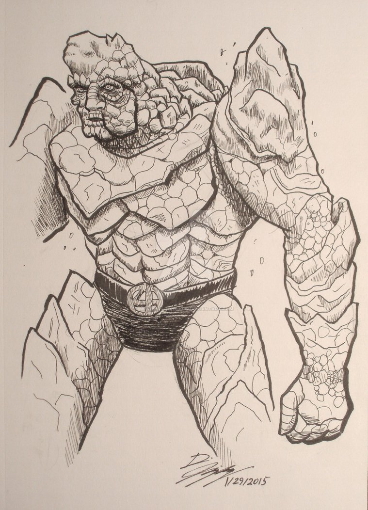 759x1052 Fantastic Four, The Thing By Moviedragon009v2