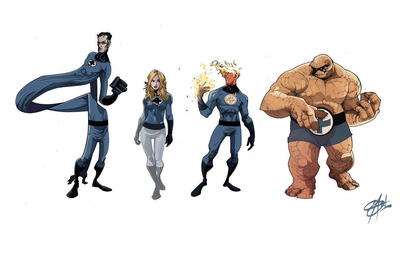 1280x829 Fantastic Four Line Up By Shadowgrail