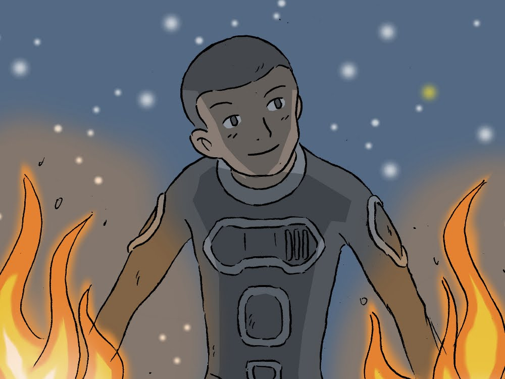 1000x750 How To Draw Johnny Storm The Human Torch From Fantastic Four